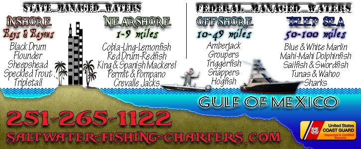 Sport Fishing Tournameent Charter Areas in Orange Beach